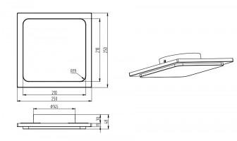 Plafonnier d'extérieur LED Trave Anthracite