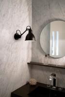 Applique salle de bain GRAS n°304 - Acier noir satin