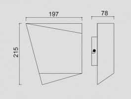 Applique Asimetric 20W Noir intérieur doré
