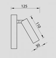 Applique led Tarifa 210 lumens -  Nickel