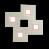 Applique / Plafonnier Karree 4 x Led - Nacre/cuivre