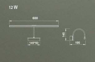 Applique tableau Led Paracuru 12W 908 lumens - laiton