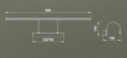 Applique tableau Led Paracuru 18W 1257 lumens - chromée