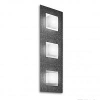 Applique/plafonnier LED Basic 3x520lm Anthracite brossé