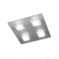 Plafonnier LED Basic 4x520lm Aluminium brossé