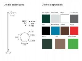 Lampadaire Belcour E27 60W H.224