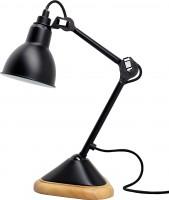 Lampe GRAS n°207 - Abat-jour rond - Acier noir satin