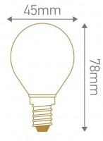 Ampoule LED sphérique E14 4W 320lm
