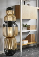 Lampadaire Totem Bamboo 4L - Forestier