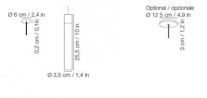 Minimal suspension nickel noir  - Kundalini