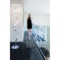Lampadaire LED intégrée helix chrome