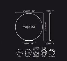 Lampe à poser LED Mega D.90 - Le Deun