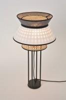 Lampe à poser Singapour - blanc anthracite - H.56 cm