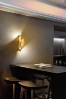 Applique LED Melis feuille d'or
