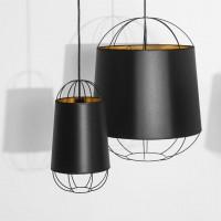 Lanterna D.22 suspension noire & or