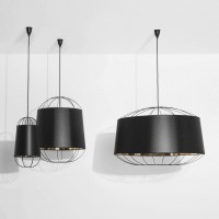 Lanterna D.75 suspension noire & or