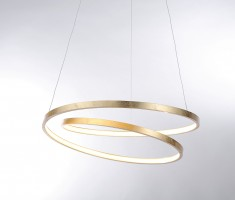 Suspension LED Roman 30W feuille d'or