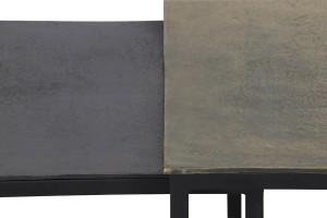 Trio de tables basses bronze antique
