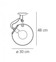 Miconos Soffitto - Artemide