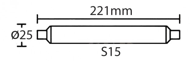 Tube LED S15 3.5W (320lm) L.221