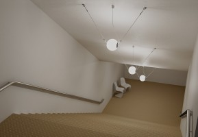Perla suspension décentrée  - Lumina