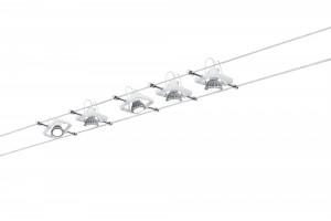 Kit spots sur câble Cardan LED blanc