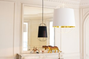 Lanterna D.22 suspension blanc & or
