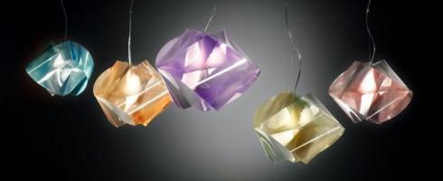 Gemmy suspension prisma ambre - Slamp