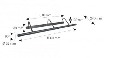 Applique Tableaux graphite 6x40W