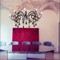Lustre Verre de Murano Gouttes 9 diffuseurs Gris