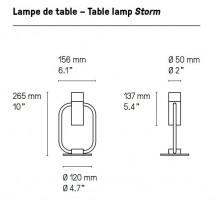 Lampe à poser Led Storm CVL Luminaires