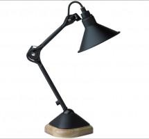 Lampe GRAS n°207 - Abat-jour conique- Acier noir satin