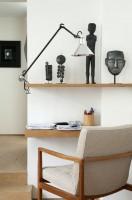 Lampe d'architecte GRAS n°201 - Abat-jour conique- Acier noir satin