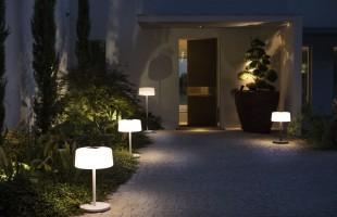 Lampadaire Bump solaire et rechargeable gris anthracite