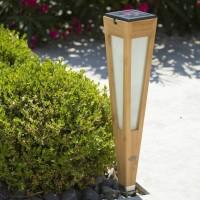 Torche solaire et rechargeable Tecka H.52 500 lm - Bois clair