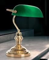 Lampe à poser Banquier laiton brillant