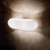 Applique en verre Moris blanche