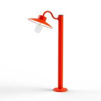 Borne Belcour H.102 cm-Rouge-Verre clair