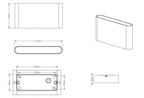 Applique d'extérieur LED Thames II Blanc mat