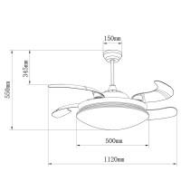 Ventilateur de plafond Klon Nickel