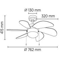 Ventilateur de plafond Tabit Bois foncé