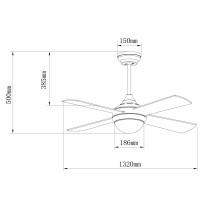 Ventilateur de plafond Tempo Blanc