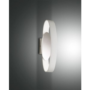 Applique murale LED Fabas Luce Gaby L.32 IP44 - Blanc
