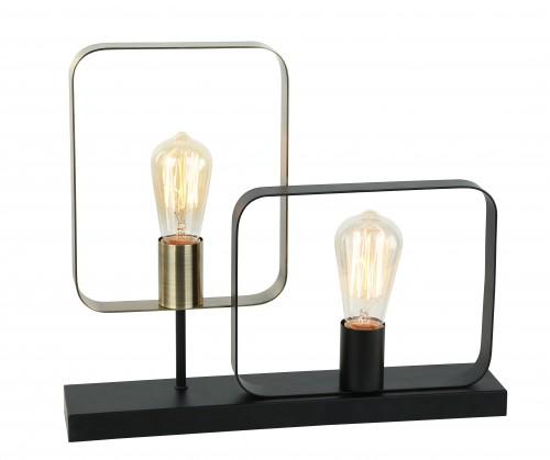 Lampe à poser métal noir/laiton