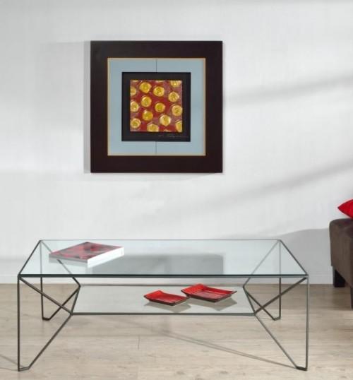 Table basse Prado noir satiné 120x72