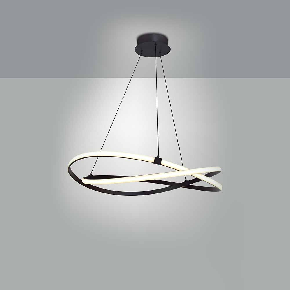 Luminaire Suspension Led jeancel luminaires - suspension led infinity marron - discover