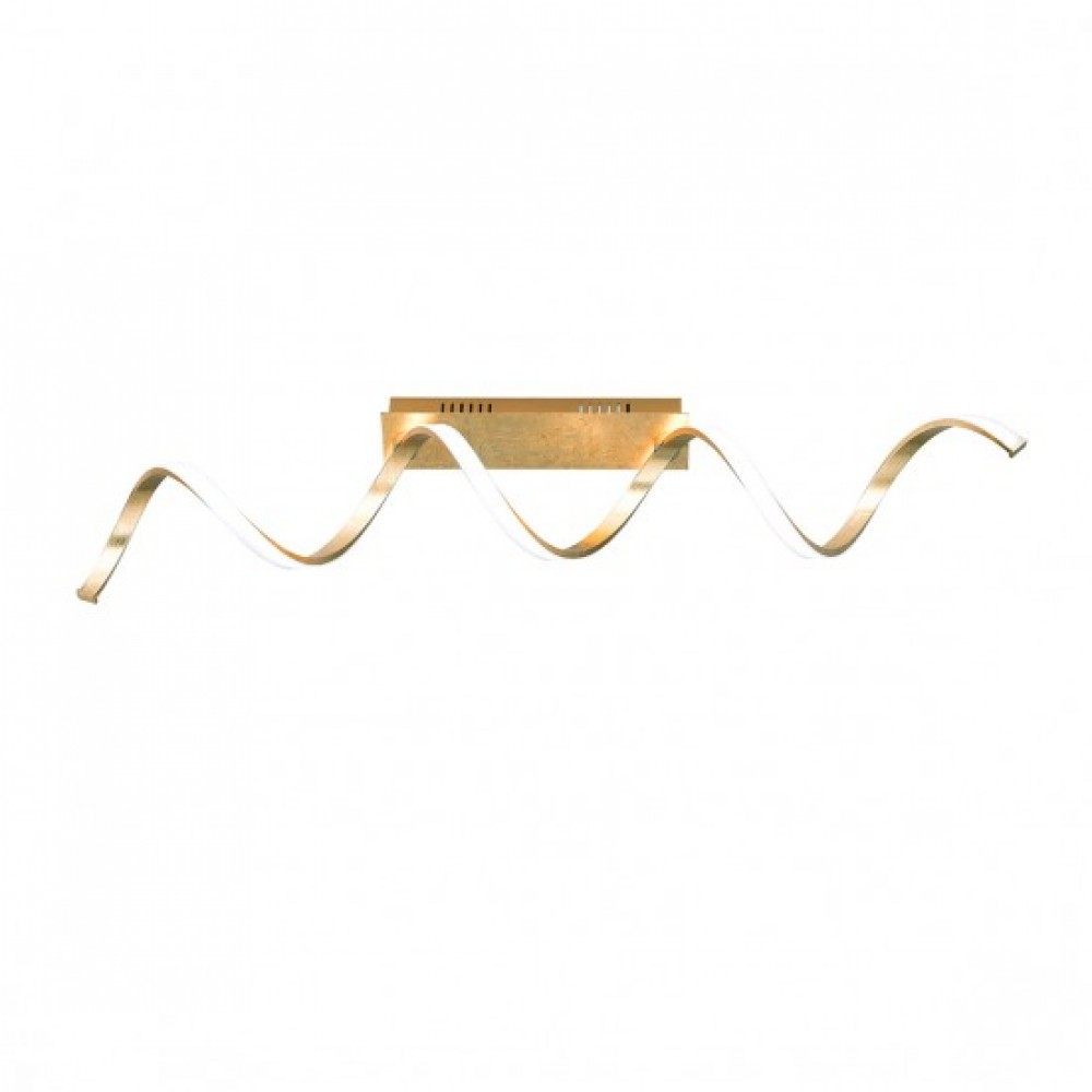 Plafonnier LED Russel Feuille d'Or