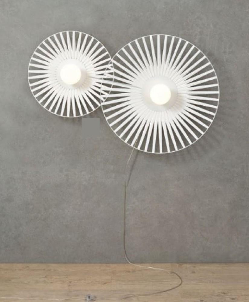 Applique Louise harpo - blanc - 2 lumières