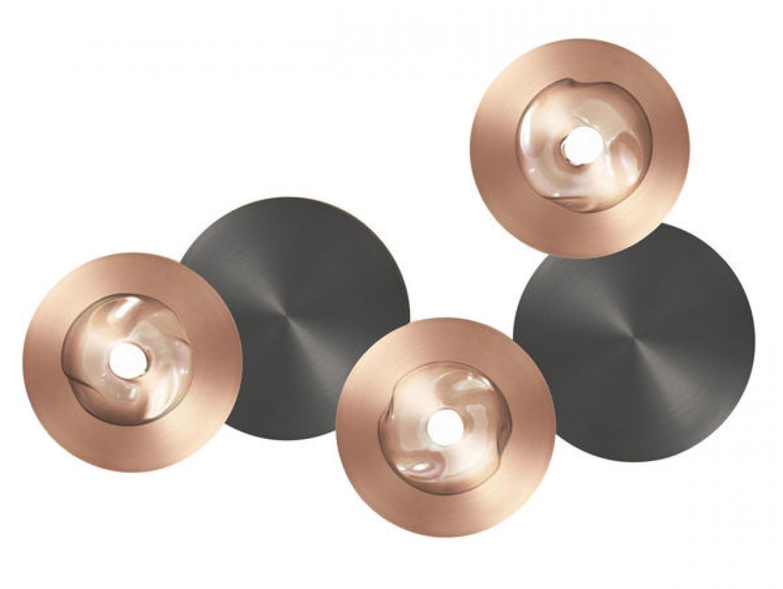 Applique / Plafonnier Dots A cuivre - graphite