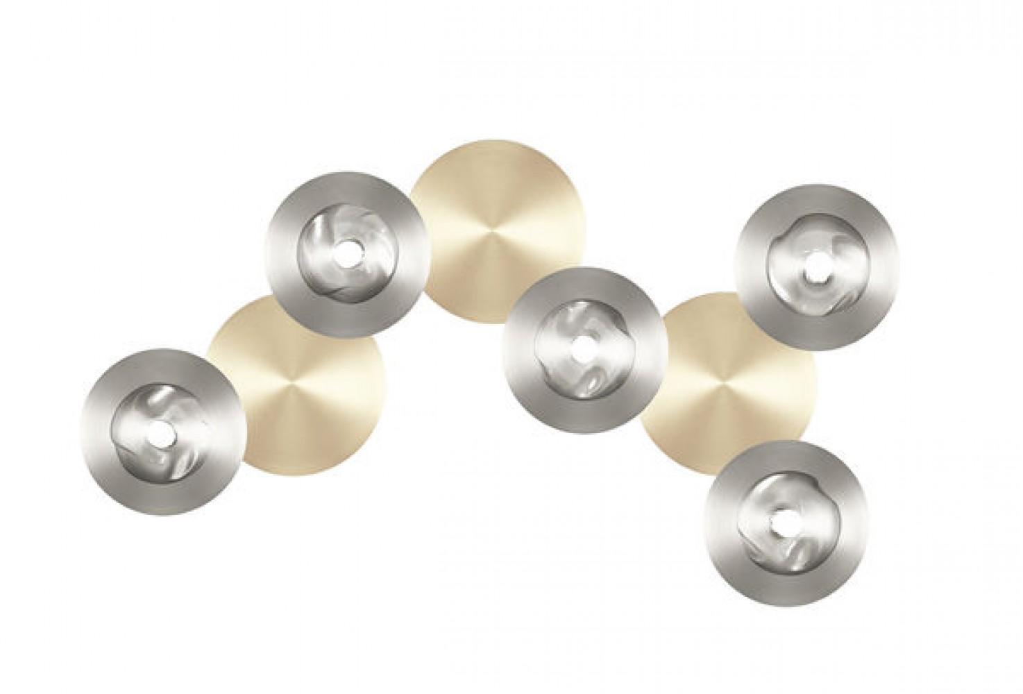 Applique / Plafonnier Dots B nickel - satiné 5L